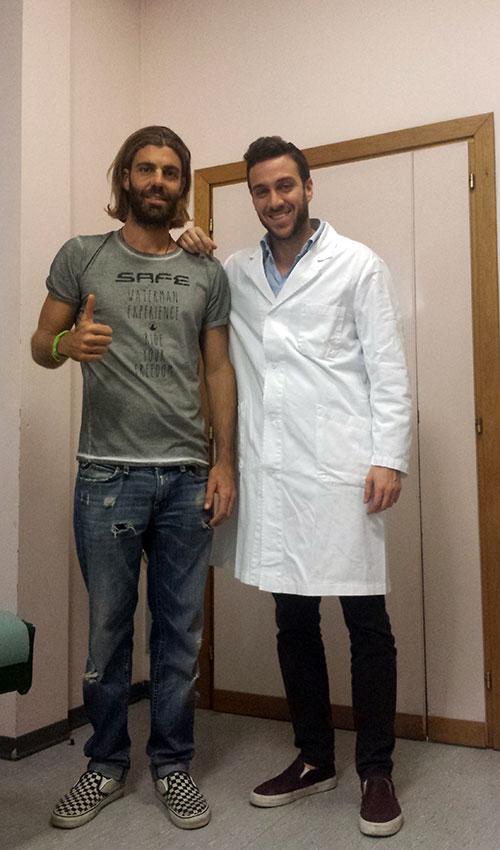 Sede di Cesena: Alessandro Onofri con il nutrizionista Dott. Andrea Del Seppia