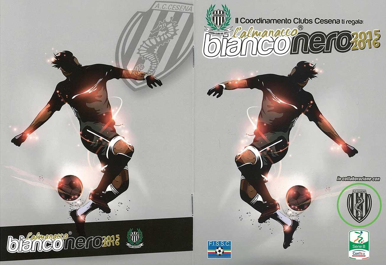 A.C. Cesena Calcio - Copertina dell'Almanacco Bianconero, stagione di serie B, 2015-2016