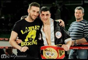 Boxe Orlando Fiordigiglio con Andrea Del Seppia: difesa del Titolo Intercontinentale I.B.F. contro Howard Cospolite