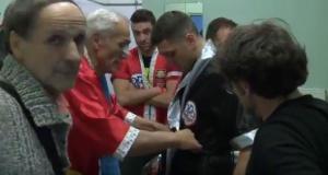 Dott. Andrea Del Seppia nel team tecnico di Orlando Fiordigiglio, all'incontro di boxe con Zakaria Attou
