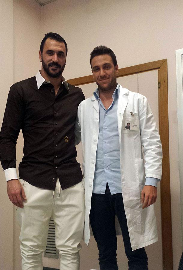 A.C. Cesena Calcio - Hugo Almeida con Andrea Del Seppia