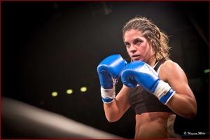Michela Socci, in azione durante un combattimento