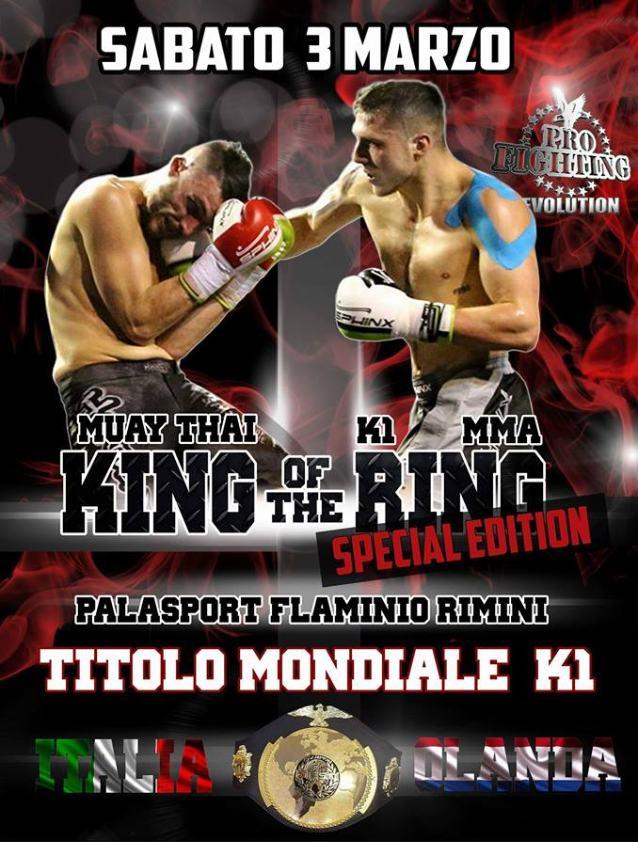 Locandina di Nicola Severi, per il Titolo Mondiale K-1 di Muay Thai Boxe