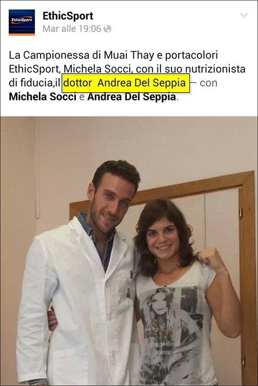 Nutrizionista Andrea Del Seppia nel suo ambulatorio: collaborazione con Michela Socci
