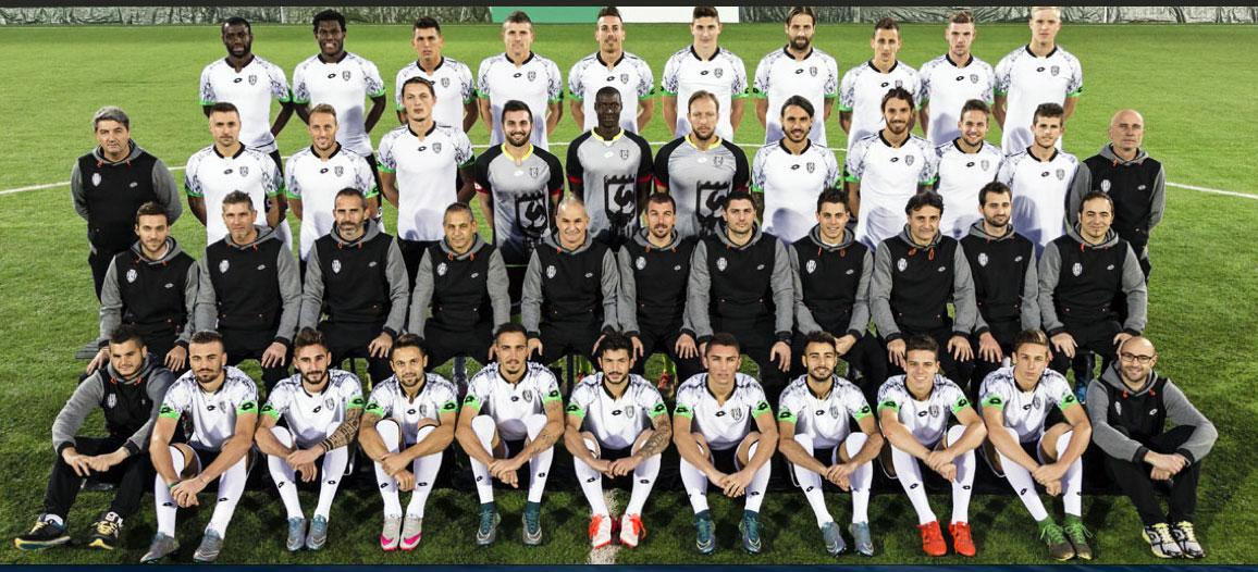 Poster squadra A.C. Cesena Calcio, Serie B, stagione 2015-2016. All'estrema sinistra il Dott. Andrea Del Seppia.